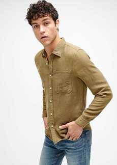7 For All Mankind Casual One Pocket Shirt in Olive