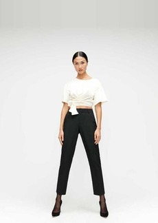 7 For All Mankind Cigarette Trouser in Jet Black