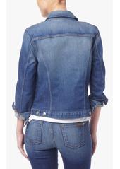 7 For All Mankind Classic Denim Jacket in Aggressive Bright Indigo