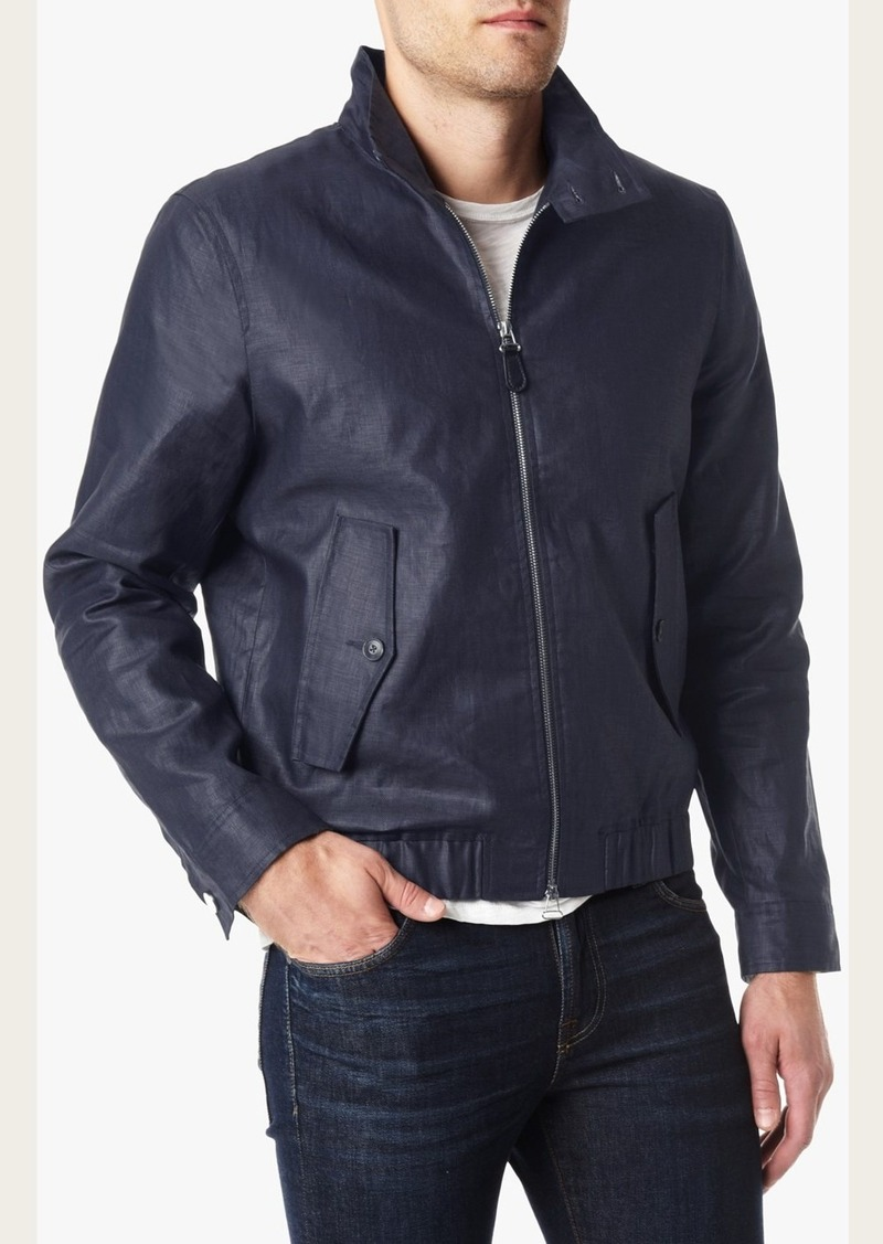 7 For All Mankind Coated Harrington Jacket in Navy Slate