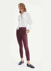 7 For All Mankind Coated High Waist Ankle Skinny in Merlot