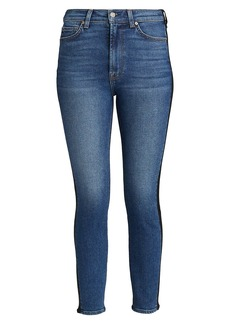 7 For All Mankind Coated High-Waisted Ankle Skinny Jeans