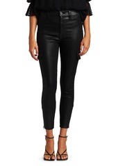 7 For All Mankind Coated High-Waisted Cargo Skinny Jeans