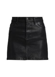 7 For All Mankind Coated Mini Skirt