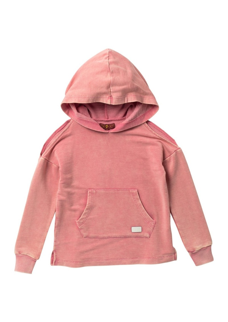 7 For All Mankind Cold Shoulder Hoodie (Little Girls)