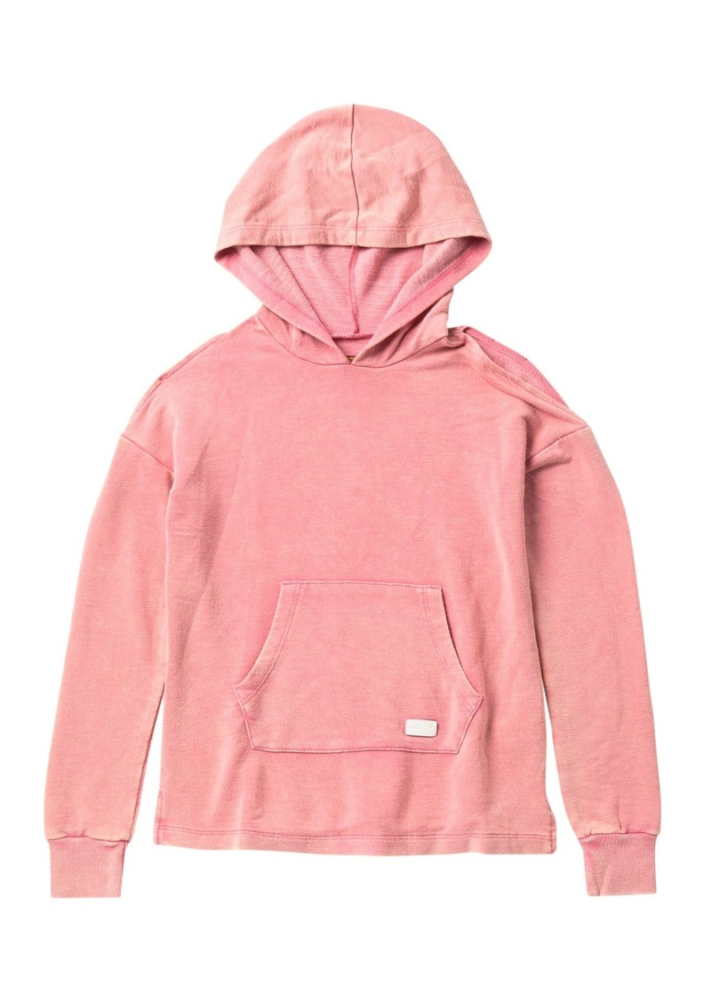 7 For All Mankind Cold Shoulder Pullover Hoodie (Big Girls)