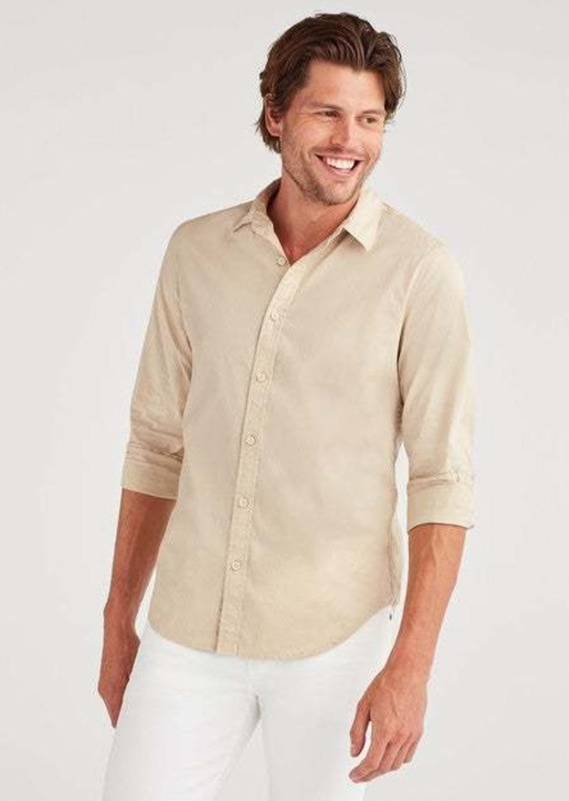 7 For All Mankind Commuter Shirt in Pigment Khaki