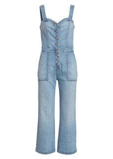 7 For All Mankind Corset Tank Denim Playsuit