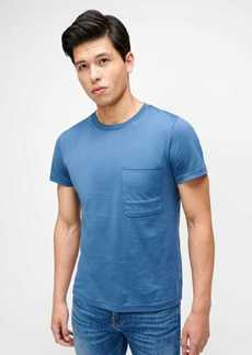 7 For All Mankind Cotton Pocket Tee in Midnight Blue