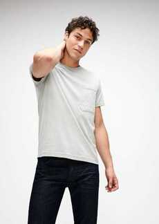 7 For All Mankind Cotton Pocket Tee in Stone