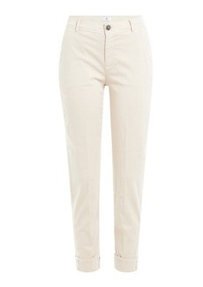7 For All Mankind Cotton Sateen Cropped Chinos