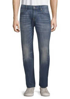 7 For All Mankind Cotton Straight-Leg Jeans