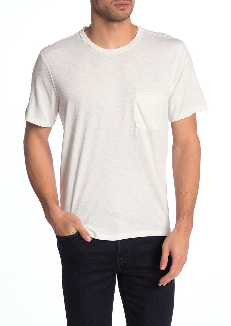 7 For All Mankind Crew Neck Pocket Short Sleeve T-Shirt