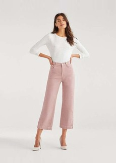 7 For All Mankind Cropped Alexa Vintage Cord in Dusty Rose