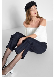 Cropped Ali with Side Seam Split in New York Rinse