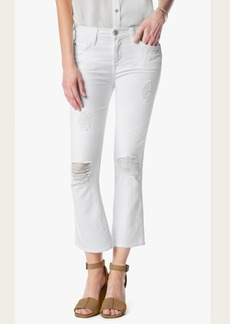 Cropped Boot With Destroy in Clean White
