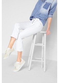 Cropped Boot with  Released Hem in White Fashion