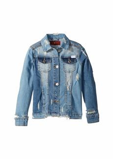 7 For All Mankind Cropped Denim Jacket (Big Kids)