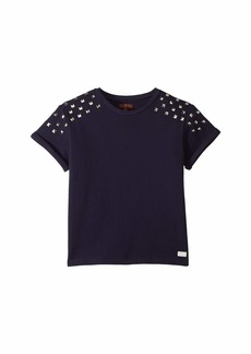 7 For All Mankind Cropped French Terry Sweatshirt with Studs (Big Kids)