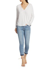 7 For All Mankind Cropped Released-Hem Skinny Jeans