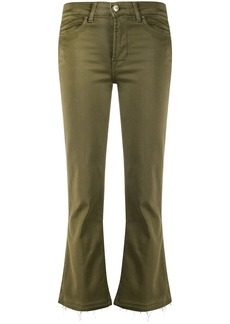 7 For All Mankind cropped slight flared trousers