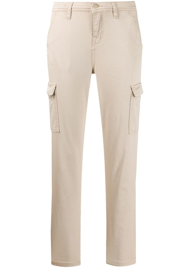 7 For All Mankind cropped slim-fit trousers
