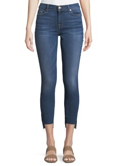 7 For All Mankind Cropped Super Skinny Ankle Jeans with Step Hem