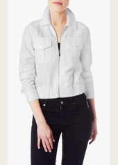 7 For All Mankind Cropped Utilitarian Jacket in Blanc de Blanc