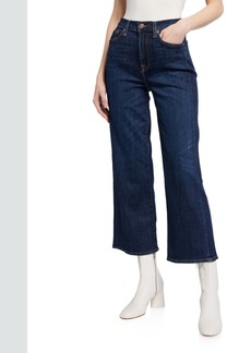 7 For All Mankind Cropped Wide-Leg Jeans