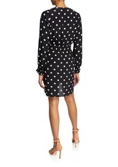 7 For All Mankind Crossover Dot-Print Short Dress