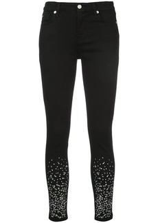 7 For All Mankind crystal embellished skinny jeans