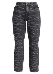 7 For All Mankind Crystal High-Rise Zebra Print Jeans