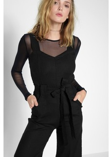 7 For All Mankind Culotte Belted Playsuit in Black
