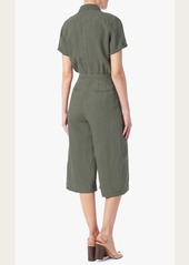7 For All Mankind Culotte Jumpsuit in Grape Leaf