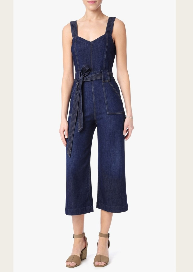7 For All Mankind Culotte Playsuit in Saint Tropez Night