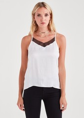 7 For All Mankind Cupro Cami in Natural White