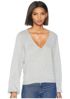 7 For All Mankind Curved Neck Crop Sweater