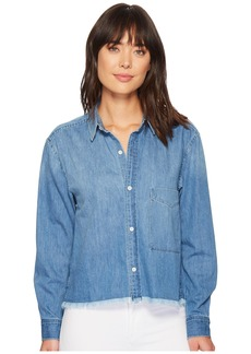 7 For All Mankind Cut Off Denim Shirt