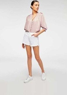 7 For All Mankind Cut Off Short in Clean White
