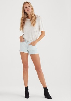 7 For All Mankind Cut Off Short in Cloud Bleach Out