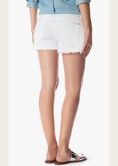 7 For All Mankind Cut Off Short in White