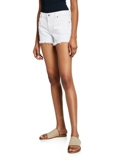 7 For All Mankind Cutoff Jean Shorts  Clean White