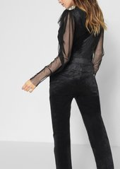 7 For All Mankind Deep V Playsuit in Black