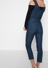 7 For All Mankind Deep V Playsuit in Wilshire Rinse