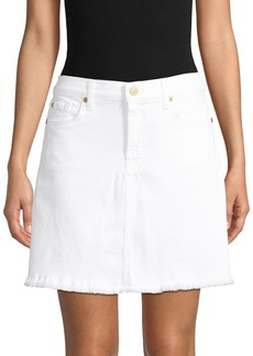 7 For All Mankind Denim A-Line Skirt