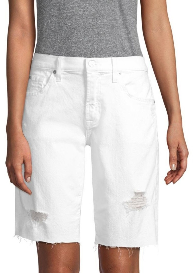 7 For All Mankind Denim Bermuda Shorts