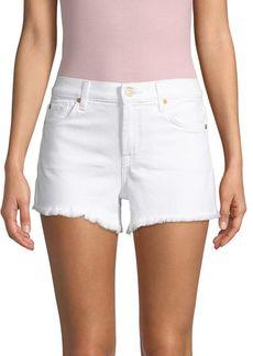 7 For All Mankind Denim Cuf-Off Shorts