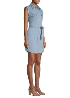 7 For All Mankind Frayed Denim Shirtdress