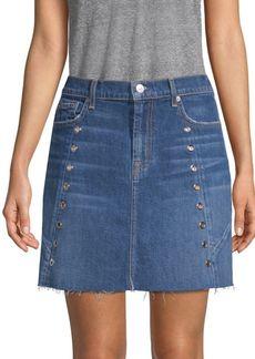Denim Eyelet Skirt