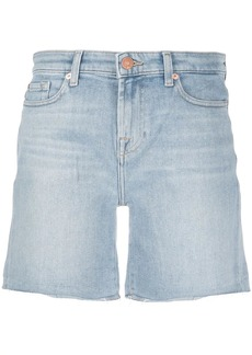 7 For All Mankind denim high waisted shorts
